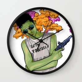 Save Yourself Wall Clock
