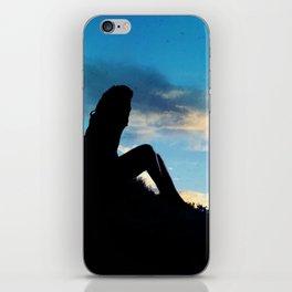 Evening Sunset Landscape - Mountain Girl iPhone Skin