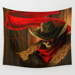 Skull Cowboy Wall Tapestry
