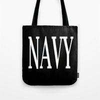 navy Tote Bags featuring NAVY by shannon's art space
