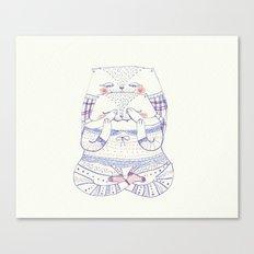 surprise cat Canvas Print