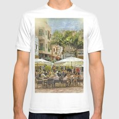 Cafe Veril, Alcala, Tenerife MEDIUM Mens Fitted Tee White