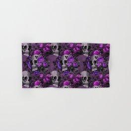 Gothic Flower Skulls Hand & Bath Towel
