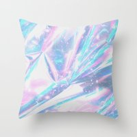 hologram Throw Pillows featuring Iridescence by Leah Moloney Photo