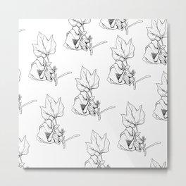 Cotton Bud Metal Print