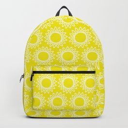 Sun Yellow Pattern -Beach Sun - Mix and Match with Simplicity of Life Backpack