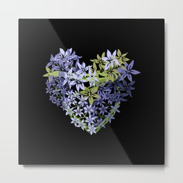Hyacinth Heart Metal Print