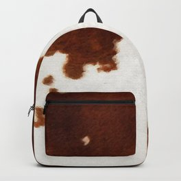 brown cowhide watercolor Backpack