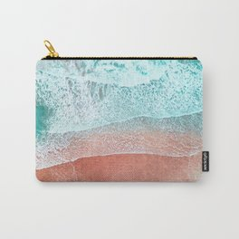 The Break - Turquoise Sea Pastel Pink Beach II Carry-All Pouch