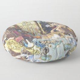 Myles Birket Foster - The Old Curiosity Shop - Digital Remastered Edition Floor Pillow