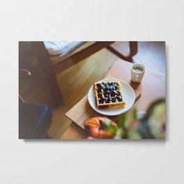 Blueberrie Toast Metal Print