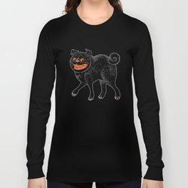 Scratch Pug Long Sleeve T-shirt