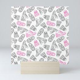 Sneakers // Pink & Grey Mini Art Print