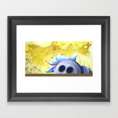 lucky stone Framed Art Print