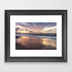 Light show after sunset in the Thyrrenian Sea Framed Art Print