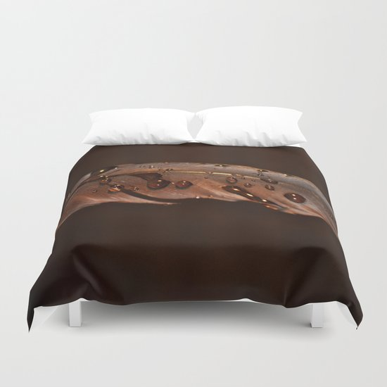 feather with drops Duvet Cover