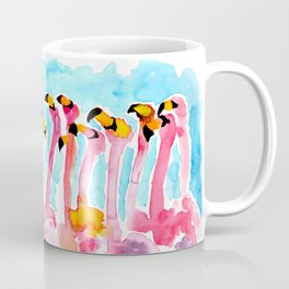 Welcome to Miami - Flamingos Illustration Coffee Mug
