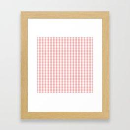 Large Lush Blush Pink and White Gingham Check Framed Art Print