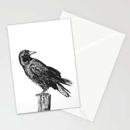 Perched Crow Stationery Cards