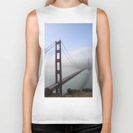 Golden Gate Bridge On A Foggy Morning Biker Tank