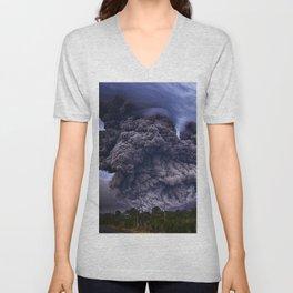 Volcano Eruption Unisex V-Neck