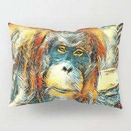 AnimalArt_OrangUtan_20180201_by_JAMColors Pillow Sham