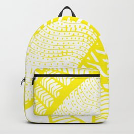 Free Hand Zesty Lemon Doodle Design Backpack