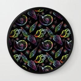 Seashells. Seamless pattern. Wall Clock