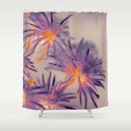 Purple Fairy Flowers Shower Curtain