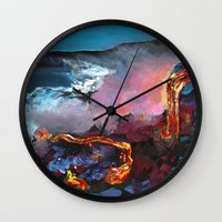 hawaii Wall Clocks featuring Hawaii by Desiree Shumovic