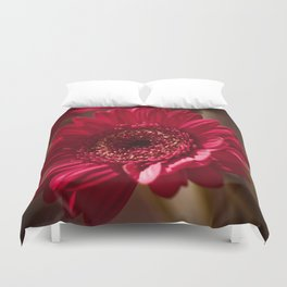 Beautiful Red Gerbera Duvet Cover