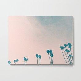 PALM TREES II (PINK) Metal Print