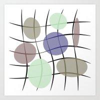 round & mesh Art Print