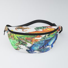 Tropical Frogs Fanny Pack