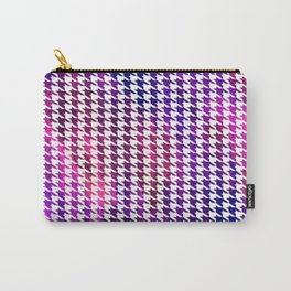 Houndstooth bright pink watercolor Carry-All Pouch