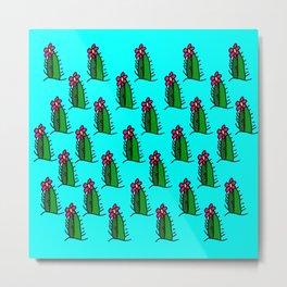 Hedgehog Cactus Metal Print