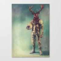 antlers Canvas Prints featuring Without Words by rubbishmonkey
