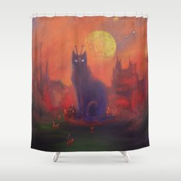 Monument To Zap Cat Shower Curtain