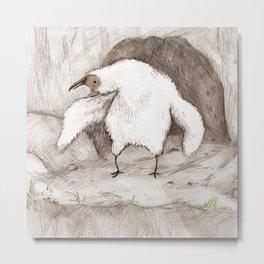 Vulture Chick Metal Print
