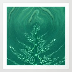 The Music Tree-unceasingly growing Art Print
