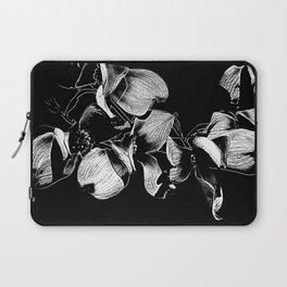 Dogwood Tree Flowers (black background) Laptop Sleeve