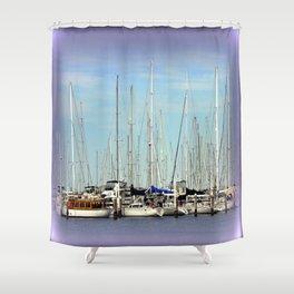 Armada of Yatchs Shower Curtain