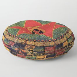 Buddhist Vajrayogini Mandala 1 Floor Pillow
