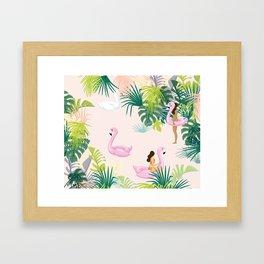 pink river Framed Art Print
