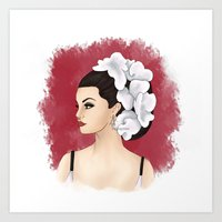 selena Art Prints featuring Selena by Quinn