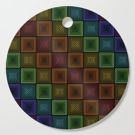 Rainbow Boxes Cutting Board