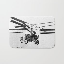 Helicopter Invention Bath Mat