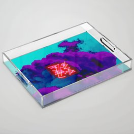 neon clouds Acrylic Tray