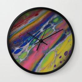 orbit rainbow Wall Clock