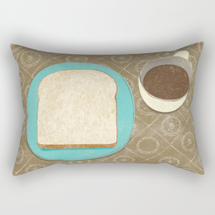 Bread and Coffee Rectangular Pillow